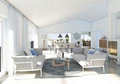 Für ein Wohnungsbauprojekt an der Schweizer Grenze hat LINK3D Architekturvisualisierung aus Freiburg diese Innenraumvisualisierung erstellt.