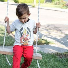 Turn old t-shirts into cool new child-sized tees. A simple and green sewing prioject.