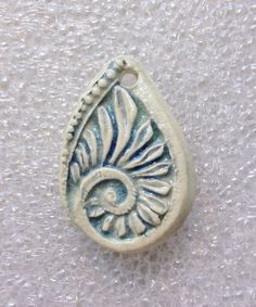 Paisley Filigree Ceramic Pendant by SlinginMud on Etsy, $10.00