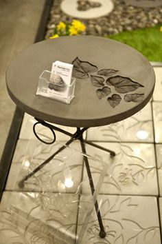 Concrete table – do it yourself decoration - Garten Design