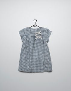 gingham dress with bows