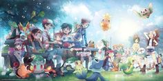 All Pokémon Trainers from all generations.<<<<Until a new game comes out in 2 years or so