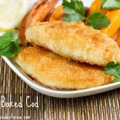 I promise you that this Crispy Baked Cod will fool you.... It tastes fried! Easy and delicious!