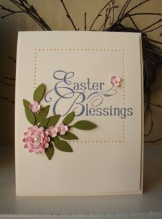 Monday, March 25, 2013   penguinstamper: Easter Blessings Card Sample