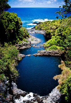 Seven Sacred Pools, past Hana, Maui. If you ever get the chances go swim here it's so beautiful!