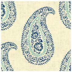 Designer Pillow Cover Kravet MADRIA Single Sided Paisley in