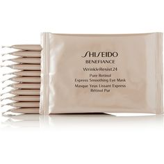 Shiseido Benefiance WrinkleResist24 Pure Retinol Eye Masks x 12 (7135 RSD) ❤ liked on Polyvore featuring beauty products, skincare, eye care, colorless, shiseido skin care, shiseido, dark circle eye treatment, eye mask and shiseido skincare
