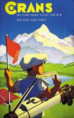 Poster by Martin Peikert / Crans sur Sierre / 1943