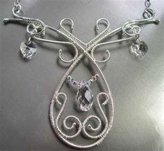 Image detail for -Ellen Chappelle, Ice Queen, wire-wrapped necklace