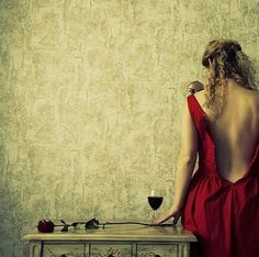 Red dress, red rose, red wine. Red Wine, Wine Red Dress, Dress Red, Wine Photography, Seduction Photography, Photography Styles, Fantasy Photography, Dire, Red Friday