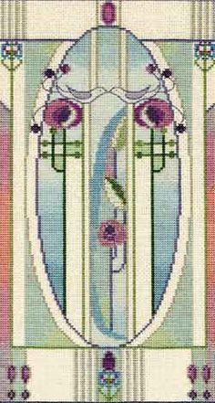 Love Birds Mackintosh Cross Stitch Kit from Derwentwater Designs