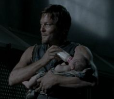 Daryl Dixon with Baby