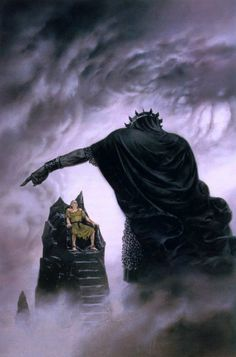 The Lord of the Rings - Ted Nasmith Art - The Silmarillion - 'Morgoth Punishes Hurin'