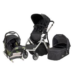 MUV REIS Travel System with Car Seat and Bassinet (Arctic Silver)