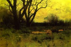 """""""Autumn Meadow,"""" Charles Warren Eaton, 1888, oil on canvas, 12 x 18"""", private collection."""