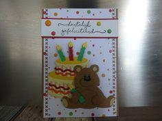 @Beer, taart, hartelijk gefeliciteerd, proficiat, kinderkaart