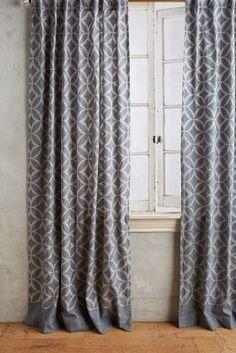 Concave Diamonds Curtain #Anthropologie
