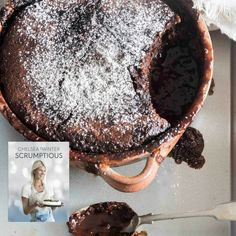 Choc self saucing pudding. Chelsea Winter