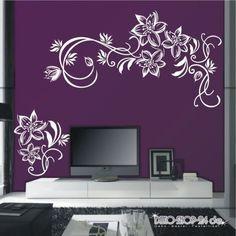 Wall Stencil Designs, Bedroom Wall Designs, Bedroom Wall Colors, Paint Designs, Wall Painting Decor, 3d Wall Decor, Wall Stickers Home Decor, Diy Wall Art, Tv Wall Design