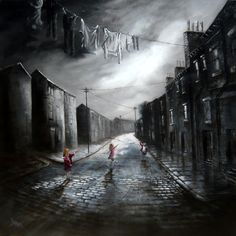 Bob Barker is a UK based artist, born and bred in Yorkshire. It's taken Bob Barker twenty years for his long time love of painting to evolve from a hobby to the point where interest in his work has taken on worldwide awareness. Landscape Photography, Art Photography, Nostalgic Art, Building Drawing, Landscape Drawings, Landscape Paintings, Urban Life, New Artists, Art Pages