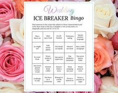 Bridal Shower Ice Breaker Game Blush Wedding Human Bingo Cards | Etsy