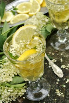 {elderflower syrup}