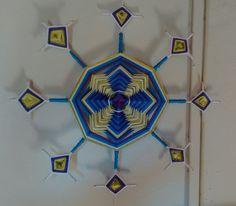 Mandala olho de deus de 8 pontas, com seus lindos detalhes! #amoquefaço