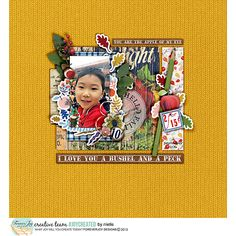 McIntosh Digital Scrapbooking Page Kit by ForeverJoy | full of bright crisp apples, warm wood and a vintage feel perfect for Fall Scrapbooking layouts!