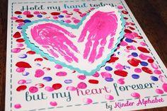 Kinder Alphabet - Teacher Resources in English and Spanish Valentine Crafts For Kids, Valentines Day Activities, Holiday Activities, Valentines For Kids, Valentine Ideas, Toddler Crafts, Preschool Crafts, Kids Crafts, Preschool Ideas