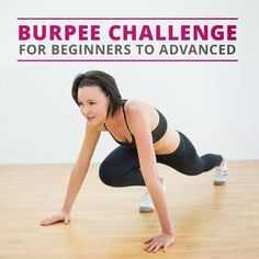 50 Burpee Challenge (Beginner and Advanced) Shows a beginner style of how to do burpees for people who have never done them before. Burpees, 3 Day Workout Routine, Workout Challenge, Workout Ideas, 100 Burpee Challenge, Exercise Routines, Fitness Tips, Fitness Motivation, Health Fitness