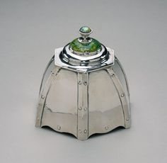 Inkwell / Charles Robert Ashbee / Guild of Handicraft / England / 1907 / silver and enamel / Minneapolis Institute of Arts