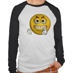 ANGRY YELLOW SMILEY FACE TEE SHIRTS