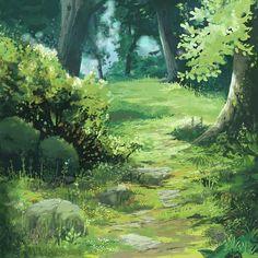 Dedicated to Kazuo Oga designed by marie schweiz. Digital Painting Tutorials, Digital Art Tutorial, Environment Concept Art, Environment Design, Animation Background, Art Background, Ghibli Backgrounds, Fantasy Landscape, Landscape Art