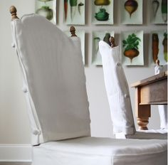 dining chair slipcovers, Yes... Closer but my stupid dining room chairs have arms and fabric. blech... Someone who loves me, read this and make me some covers.  Patty
