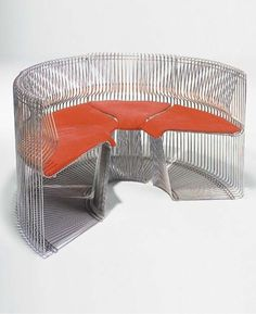 Verner Panton was first to create inflatable furniture, pioneered with the much acclaimed single molded plastic Panton chair and refused to accept gravity by creating the Flying Chair.