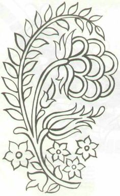 Fashion and Lifestyle Jacobean Embroidery, Embroidery Transfers, Embroidery Needles, Crewel Embroidery, Hand Embroidery Patterns, Ribbon Embroidery, Beading Patterns, Embroidery Designs, Outline Drawings