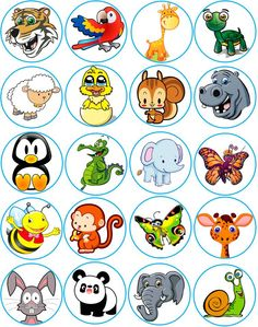 Animals set vector 2256630 - by sararoom on VectorStock® Farm Animals Preschool, Preschool Learning, Learning Activities, Teaching Kids, Math For Kids, Crafts For Kids, Flashcards For Kids, Animal Worksheets, Educational Games