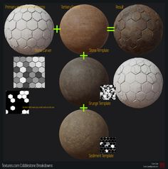 Textures.com Cobblestone Set Breakdown and Stone Carver Release, Evan Liaw on ArtStation at https://www.artstation.com/artwork/9O3Wy