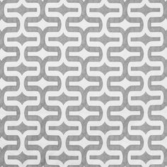Gray Geometric Fabric Gray/White Abstract Fabric by EnglesideManor, $14.85