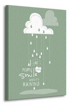 Raining - obraz na płótnie