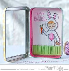 Easter Bunny Tin by Betsy Veldman for Papertrey Ink (February 2016)