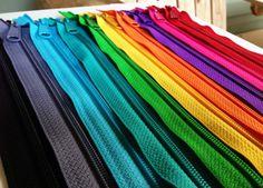 Ten bright and neutral 9 inch Handbag zippers by kandcsupplies, $8.25