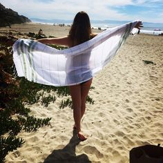 Peshtemal & Model on Beach