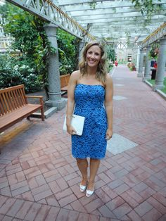 Blue Lace Dress Wedding Guest Best Dressed Charlestown Boston Chic Party