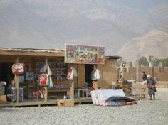Afghanistan.  This local version of WalMart near the village of Sarkani, Kunar Province, Afghanistan, has all the necessary items are for sale (i.e.: soap, razors, toothpaste, etc.), as well as gemstones (i.e.: star saphires, black diamonds, opals, etc.) and energy drinks (i.e.: monster, red bull, etc.).  There are even Persian carpets, Afghan clothing and bootleg DVDs - something for everyone!