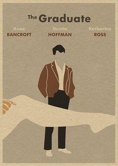 The Graduate minimalist movie poster