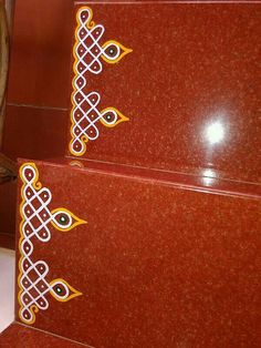 Ideas stairs design traditional floors The Effective Pictures We Offer You About deck Stairs A quality picture can tell you many things. You can find the most beautiful pictures th Indian Rangoli Designs, Rangoli Designs Latest, Rangoli Designs Flower, Rangoli Border Designs, Small Rangoli Design, Rangoli Designs Images, Rangoli Designs With Dots, Rangoli With Dots, Beautiful Rangoli Designs