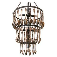 Chandelier Made of Spoons and Forks