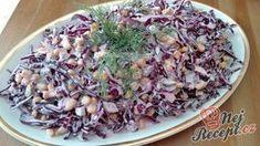 Vynikající lehký zelný salát se zálivkou z bílého jogurtu a zakysané smetany | NejRecept.cz Vegetable Salad, Cooking Light, Coleslaw, Cabbage, Rice, Salads, Food And Drink, Health Fitness, Vegetarian