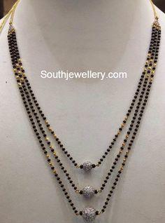 black beads mangalsutra